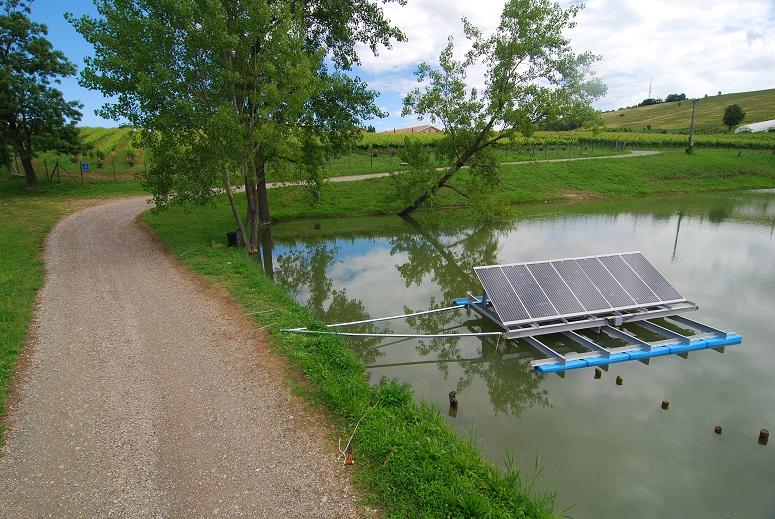 Аэратор на солнечных батареях