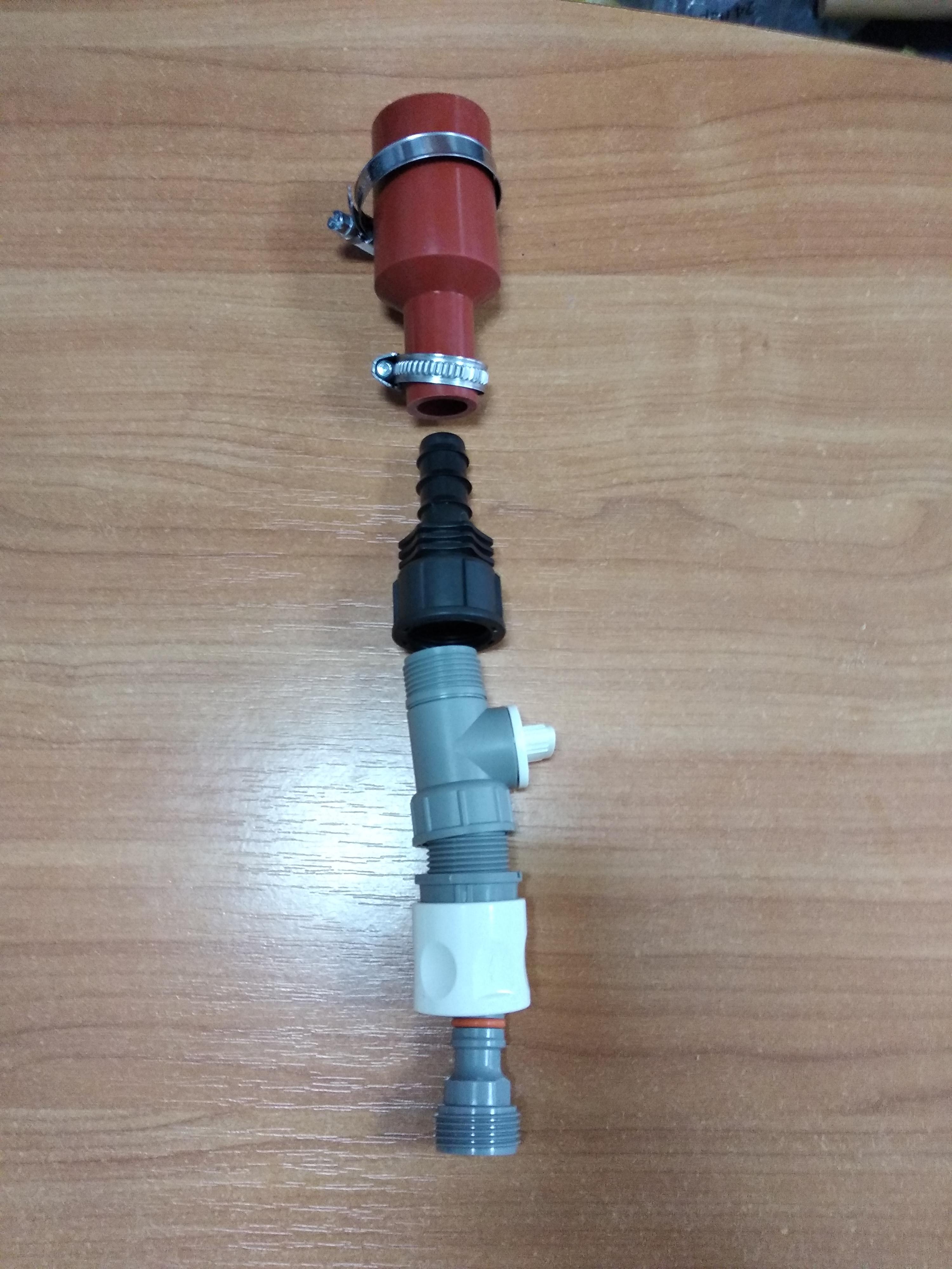 Третий вариант комплектации нижнего подвода воды