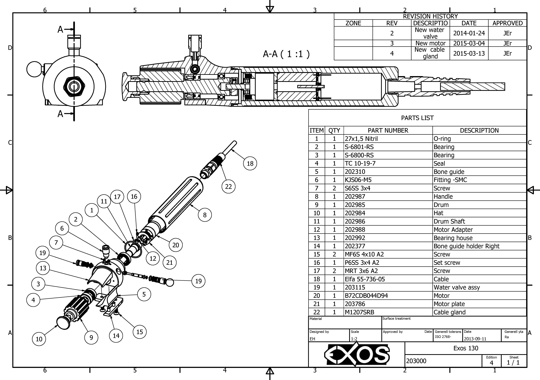 Запчасти к машинкам EXOS для удаления костей