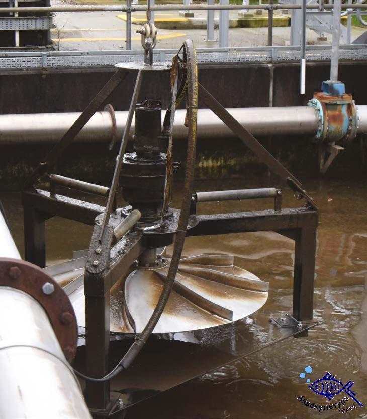 Плавающий смеситель нисходящего потока MIX-AS — с внешним мотором
