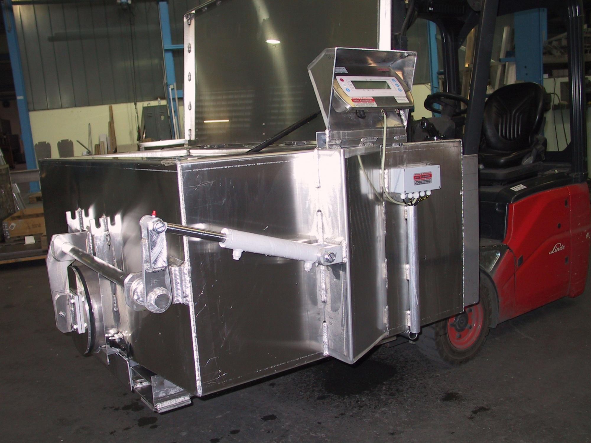 Алюминиевые ёмкости с автоматическим шандором и весами FTBA-650 и FTBA-1200