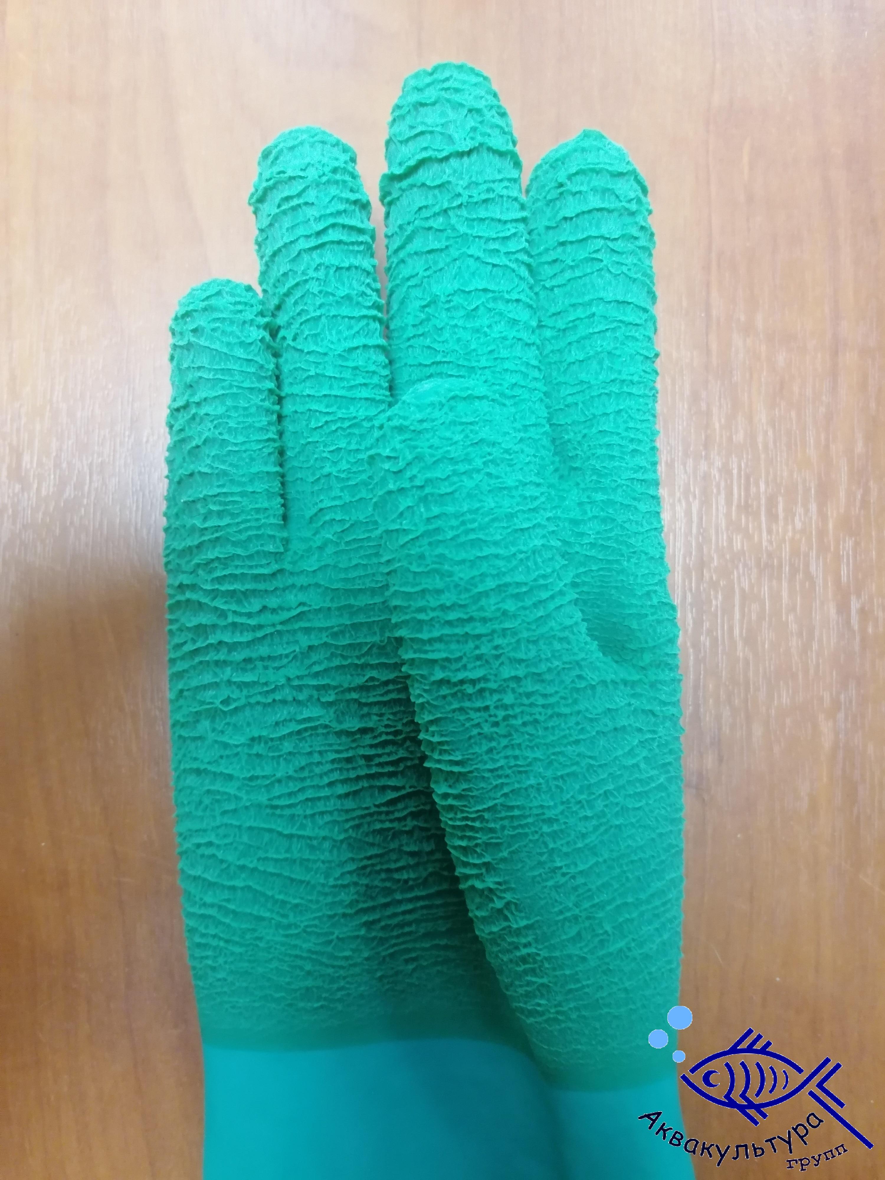 Перчатки для удержания рыбы с ребристым покрытием